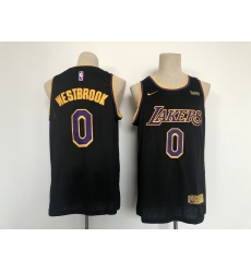 Men's Los Angeles Lakers #0 Russell Westbrook Fanatics Branded Black 2020-21 Fast Break Player Jersey