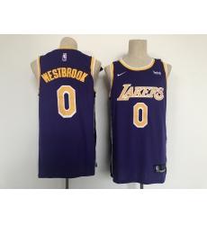 Men's Los Angeles Lakers #0 Russell Westbrook Fanatics Branded Purple 2020-21 Fast Break Player Jersey
