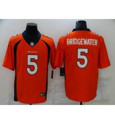 Men's Denver Broncos #5 Teddy Bridgewater Nike Orange Limited Jersey
