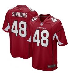 Youth Arizona Cardinals #48 Isaiah Simmons Nike Cardinal Game Jersey