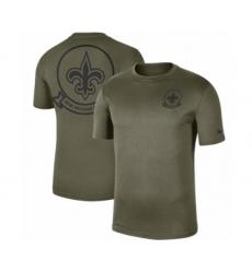 Football Men's New Orleans Saints Olive 2019 Salute to Service Sideline Seal Legend Performance T-Shirt