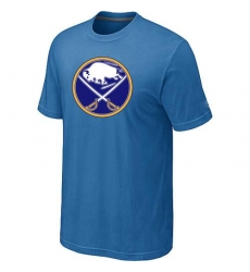 NHL Men's Buffalo Sabres Big & Tall Logo T-Shirt - Light Blue