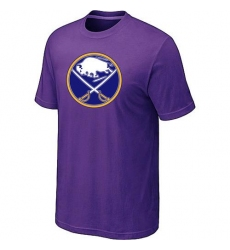 NHL Men's Buffalo Sabres Big & Tall Logo T-Shirt - Purple