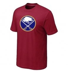 NHL Men's Buffalo Sabres Big & Tall Logo T-Shirt - Red