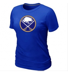 NHL Women's Buffalo Sabres Big & Tall Logo T-Shirt - Blue