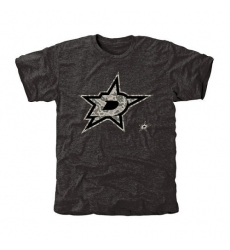 NHL Men's Dallas Stars Black Rink Warrior Tri-Blend T-Shirt