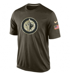 NHL Men's Winnipeg Jets Nike Olive Salute To Service KO Performance Dri-FIT T-Shirt