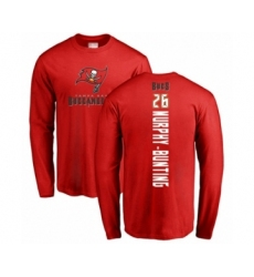Football Tampa Bay Buccaneers #26 Sean Murphy-Bunting Red Backer Long Sleeve T-Shir