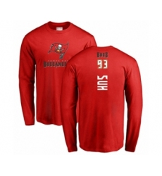 Football Tampa Bay Buccaneers #93 Ndamukong Suh Red Backer Long Sleeve T-Shirt