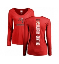 Football Women's Tampa Bay Buccaneers #26 Sean Murphy-Bunting Red Backer Long Sleeve T-Shirt