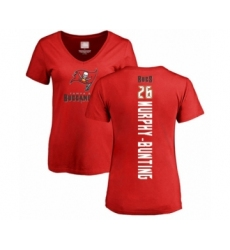 Football Women's Tampa Bay Buccaneers #26 Sean Murphy-Bunting Red Backer T-Shirt