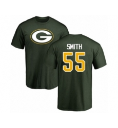 Football Green Bay Packers #55 Za'Darius Smith Green Name & Number Logo T-Shirt