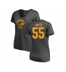 Football Women's Green Bay Packers #55 Za'Darius Smith Ash One Color T-Shirt