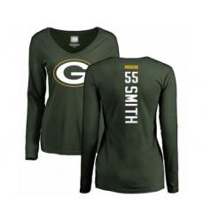 Football Women's Green Bay Packers #55 Za'Darius Smith Green Backer Long Sleeve T-Shirt