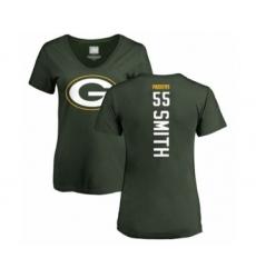 Football Women's Green Bay Packers #55 Za'Darius Smith Green Backer T-Shirt