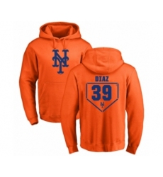 Baseball New York Mets #39 Edwin Diaz Orange RBI Pullover Hoodie