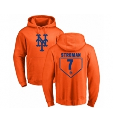 Baseball New York Mets #7 Marcus Stroman Orange RBI Pullover Hoodie