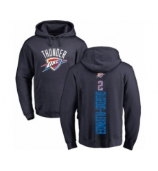 Basketball Oklahoma City Thunder #2 Shai Gilgeous-Alexander Navy Blue Backer Pullover Hoodie