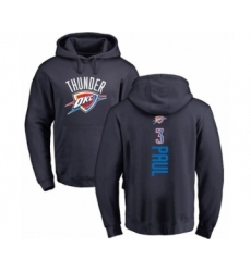 Basketball Oklahoma City Thunder #3 Chris Paul Navy Blue Backer Pullover Hoodie