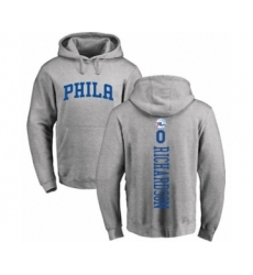 Basketball Philadelphia 76ers #0 Josh Richardson Ash Backer Pullover Hoodie