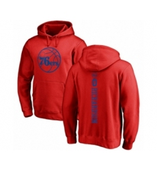 Basketball Philadelphia 76ers #0 Josh Richardson Red One Color Backer Pullover Hoodie