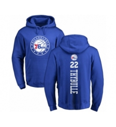 Basketball Philadelphia 76ers #22 Mattise Thybulle Royal Blue Backer Pullover Hoodie
