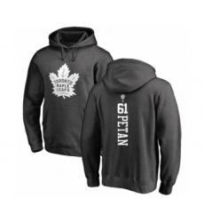 Hockey Toronto Maple Leafs #61 Nic Petan Charcoal One Color Backer Pullover Hoodie