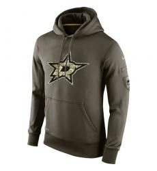 NHL Men's Dallas Stars Nike Olive Salute To Service KO Performance Hoodie