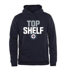 NHL Men's Winnipeg Jets Top Shelf Pullover Hoodie - Navy