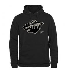 NHL Men's Minnesota Wild Black Rink Warrior Pullover Hoodie