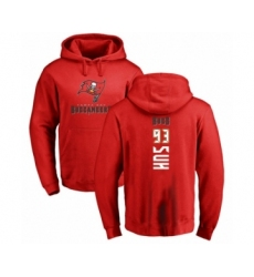 Football Tampa Bay Buccaneers #93 Ndamukong Suh Red Backer Pullover Hoodie