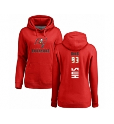 Football Women's Tampa Bay Buccaneers #93 Ndamukong Suh Red Backer Pullover Hoodie