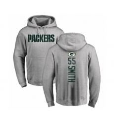 Football Green Bay Packers #55 Za'Darius Smith Ash Backer Hoodie