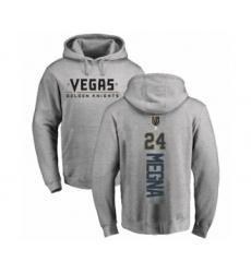 Hockey Vegas Golden Knights #24 Jaycob Megna Gray Backer Pullover Hoodie