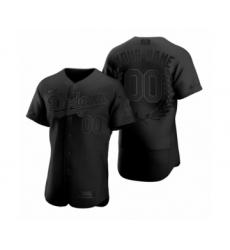 Men's Los Angeles Dodgers Custom Black Awards Collection Jersey