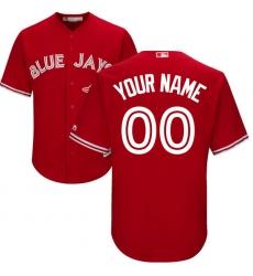 Men's Toronto Blue Jays Majestic Scarlet 2017 Cool Base Replica Custom Jersey