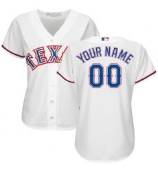 Women's Texas Rangers Majestic White Home Cool Base Custom Jersey