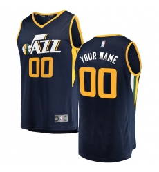 Men's Utah Jazz Fanatics Branded Navy Fast Break Custom Replica Jersey - Icon Edition
