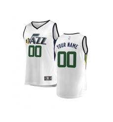 Youth Utah Jazz Fanatics Branded White Fast Break Custom Replica Jersey - Association Edition
