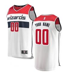 Men's Washington Wizards Fanatics Branded White Fast Break Custom Replica Jersey - Association Edition