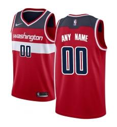 Men's Washington Wizards Nike Red Swingman Custom Jersey - Icon Edition