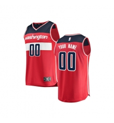 Youth Washington Wizards Fanatics Branded Red Fast Break Custom Replica Jersey - Icon Edition