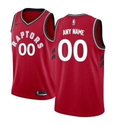 Men's Toronto Raptors Nike Red Swingman Custom Jersey - Icon Edition