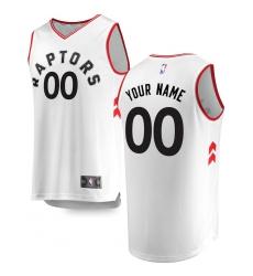 Men's Toronto Raptors Fanatics Branded White Fast Break Custom Replica Jersey - Association Edition