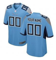 Men's Tennessee Titans Nike Light Blue 2018 Custom Game Jersey