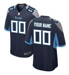 Men's Tennessee Titans Nike Navy 2018 Custom Game Jersey