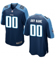 Men's Tennessee Titans Nike Navy Custom Game Jersey