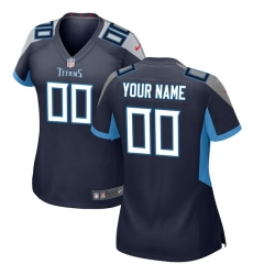 Women's Tennessee Titans Nike Navy 2018 Custom Game Jersey