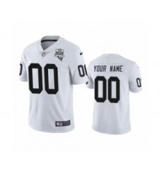 Oakland Raiders Custom White 2020 Inaugural Season Vapor Limited Jersey