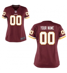 Women's Washington Redskins Nike Burgundy Custom Game Jersey